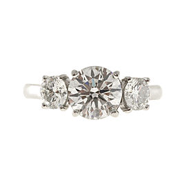 Platinum with 1.52ct Diamond Ring Size 5