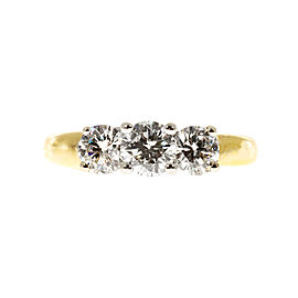 18K Yellow Gold with 1.52ct Diamond Ring Size 8