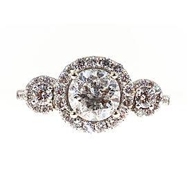 14K White Gold 1.57ct Diamond Ring Size 7