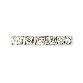 Platinum with .27ct Diamond Wedding Band Art Deco Ring Size 6