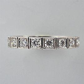 Platinum 0.54ctw Diamond Eternity Wedding Band Ring Size 6