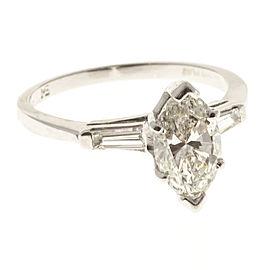 Platinum with 1.41ct Diamond Engagement Ring Size 6.75