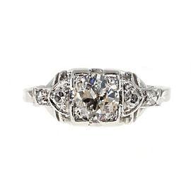 Platinum with 0.65ct Diamond Art Deco Engagement Ring Size 6
