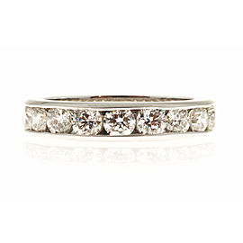 Platinum with 2.70ct Diamond Eternity Band Ring Size 6.5