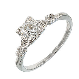 Platinum with 0.80ct Diamond Art Deco Engagement Ring Size 9