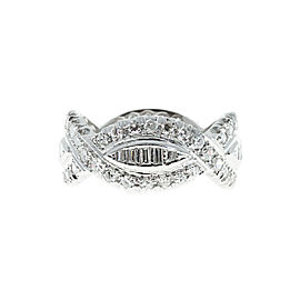 Platinum with 1.75ct Diamond Eternity Band Ring Size 6.25