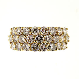 18k Yellow Gold Vintage 1.50ctw Diamond Wedding Band Ring Size 9.25