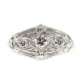 Platinum and 18K Whie Gold with 0.40ct Diamonds Ring Size 7.75