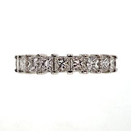 Peter Suchy Platinum 1.75ctw Princess Cut Diamond Wedding Band Ring Size 7