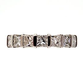 Peter Suchy Platinum 3.65ctw Princess Cut Diamond Eternity Wedding Band Ring Size 7
