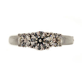 Platinum 0.50ct Diamond Ring Size 6