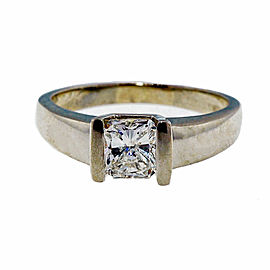 14K White Gold 1.00ct Diamond Ring Size 8.5
