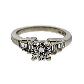 Platinum 0.87ct Diamond Ring Size 5.5
