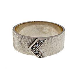 Vintage 14K White Gold 0.14ct Diamond Band Ring Size 11