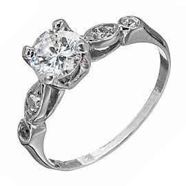 Vintage Platinum 0.61ctw Diamond Engagement Ring Size 6.5