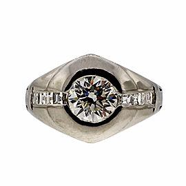 Vintage Art Deco Platinum with 0.93ct Diamond Ring Size 6