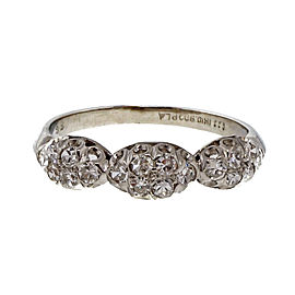 Vintage Art Deco Platinum with 0.27ct Diamond Wedding Band Ring Size 4.75