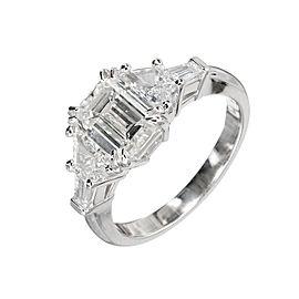 Art Deco Platinum with 1.70ct Diamond Ring Size 6.5