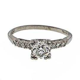 Vintage Platinum with 0.65ct Diamond Engagement Ring Size 8.75