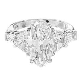 Platinum 5.8ct Diamond Ring Size 7