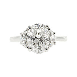 Platinum with 2.80ct Diamond Engagement Ring Size 7