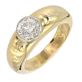 Vintage 18K Yellow Gold and Platinum with 2.05ct Diamond Ring Size 9.75