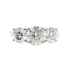 Platinum with Diamond Engagement Ring Size 7