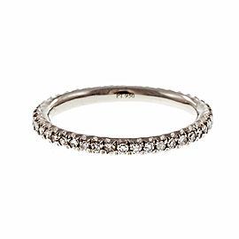 Estate Platinum .30ctw Diamond Eternity Band Ring Size 5.5