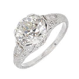Platinum Old European Diamond Ring Size 5