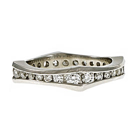 Platinum with Diamond Eternity Band Ring Size 5.75