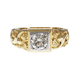 14K Yellow Gold with 1.08ct Diamond Ring Size 9