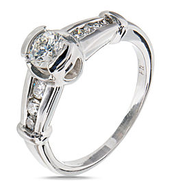 Platinum with Diamond Engagement Ring Size 6