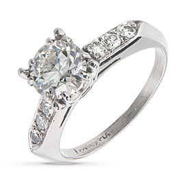 Platinum with Diamond Engagement Ring Size 4.75