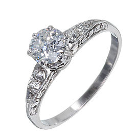 Platinum with Diamond Engagement Ring Size 7.25
