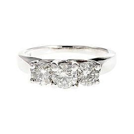14K White Gold Diamond Ring Size 5.75