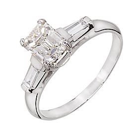 Platinum with Diamond Engagement Ring Size 8.25