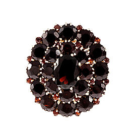 10K Yellow Gold with Garnet Cluster Ring Size 9