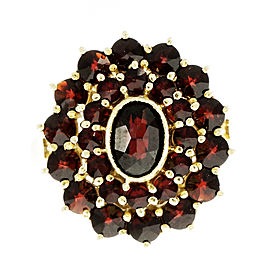 14K Yellow Gold with Garnet Ring Size 7.75