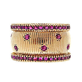 Vintage 14K Rose Gold with 2.80ct Ruby Band Ring Size 7