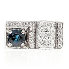 Platinum & Sapphire Diamond Ring Size 5.75