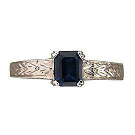 Platinum .93ct Sapphire Ring Size 7