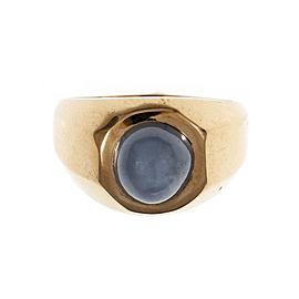 Vintage 14K Rose Gold 2.00ct Light Blue Star Sapphire Ring Size 8