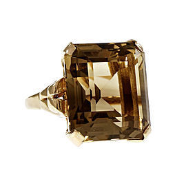14K Yellow Gold with 29.54ct Yellow Topaz Ring Size 7.75
