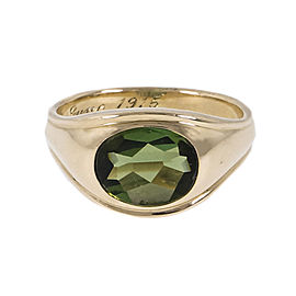 14K Yellow Gold Green Tourmaline Ring Size 7.5