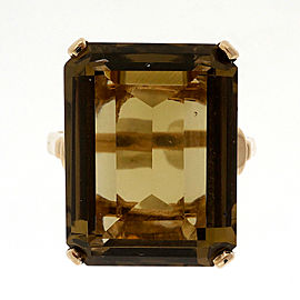 14K Yellow Gold with 21.00ct Quartz Ring Size 8.5