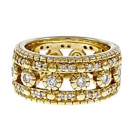 Judith Ripka 18K Yellow Gold with Diamond Wedding Eternity Ring Size 4.5