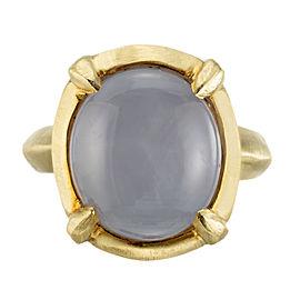Robin Rotenier 10.00 Carat Star Sapphire Yellow Gold Cocktail Ring