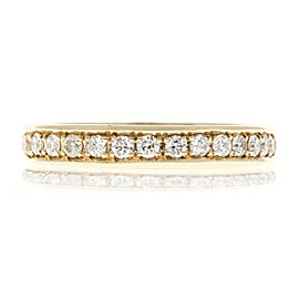 14K Yellow Gold 0.75ct Diamond Band Ring Bead Size 6.25