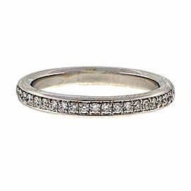 Peter Suchy Platinum Diamond Wedding Band Ring Size 6.25