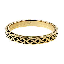 Peter Suchy 18K Yellow Gold with Celtic Woven Ring Size 7